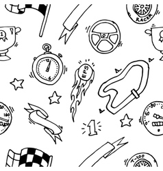 Racing icons pattern vector