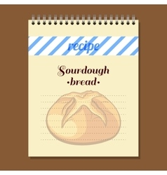 Recipe book sourdough bread vector