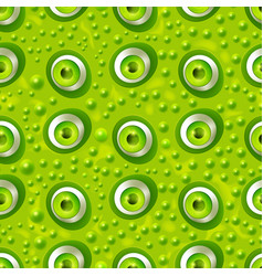 Seamless pattern with cartoon monster eyes vector