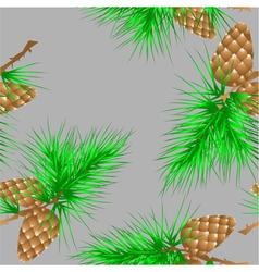 Seamless texture with fir cones vector