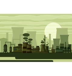 Thermal power plant concept vector image
