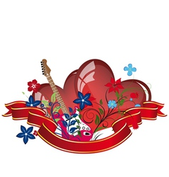 valentines day music background vector image vector image