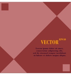 web design a flat geometric background message vector image
