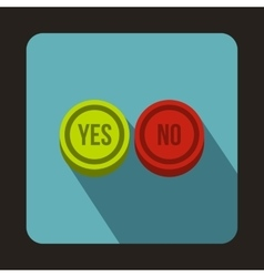 Yes and No buttons icon flat style vector image vector image
