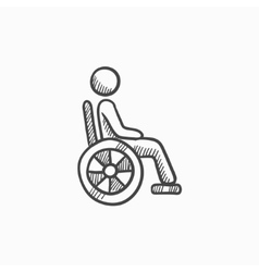 Disabled person sketch icon vector image