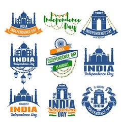 India badges vector image