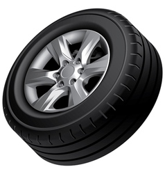 Automobile wheel isolated vector
