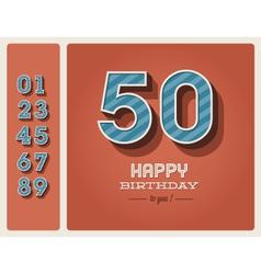 Birthday card editable vector image