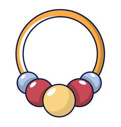 Bracelet with beads icon cartoon style vector