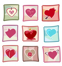 heart stamps vector image
