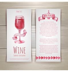 Art wine cards and labels design vector