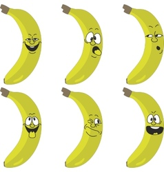 Emotion cartoon yellow banana set 015 vector