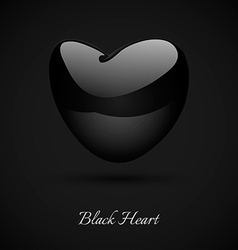 Black heart vector