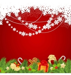 Christmas template red vector