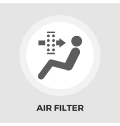 Air filter flat icon vector