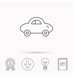 Baby car icon transport sign vector