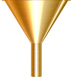 gold funnel vector image
