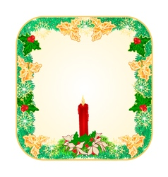 Banner square button christmas spruce vector