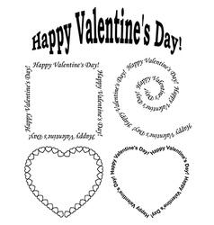 black elements for valentine day - set vector image vector image