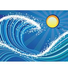Cartoon stormy sea3 vector