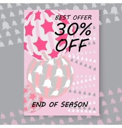 Christmas sale cards includes balls vector