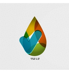 Colorful paper water drop vector image vector image
