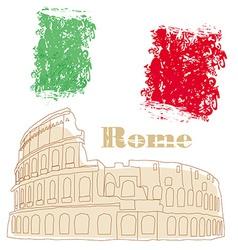 Colosseum in rome vector