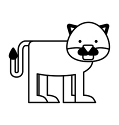 Cute panter character icon vector