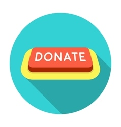 Donate button icon in flat style isolated on white vector