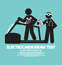 Electrocardiogram Test vector image vector image