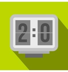 Electronic soccer scoreboard icon flat style vector