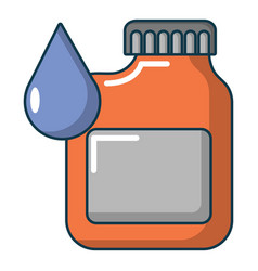 Engine oil icon cartoon style vector