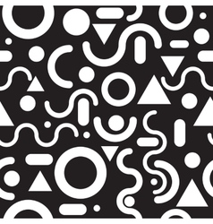 Fashion seamless pattern in memphis style vector