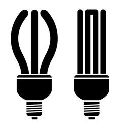 Fluorescent compact bulbs vector