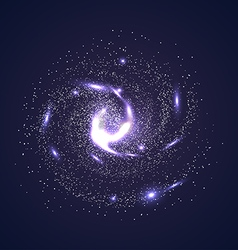 galaxies nebulae cosmos and effect tunnel spiral vector image