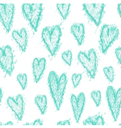 hand drawn seamless heart pattern vector image vector image