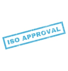 Iso approval rubber stamp vector