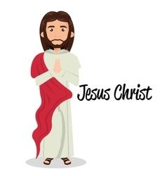 Jesus christ red cloth design vector