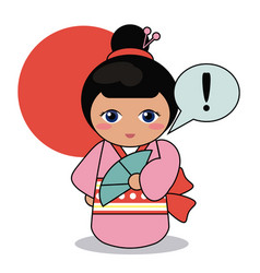 Kokeshi doll decorative image vector