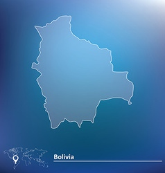 Map of bolivia vector