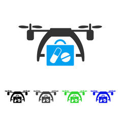 Medical drone flat icon vector