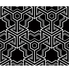 Monochrome abstract geometric seamless pattern vector image vector image