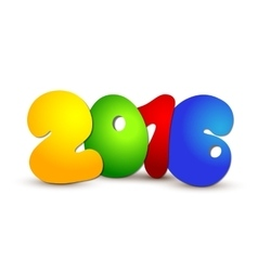 New year 2016 Text Design vector image
