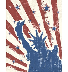 patriotic background with liberty stature vector image vector image