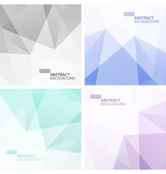 Set of Light Colorful Geometric Backgrounds vector image vector image