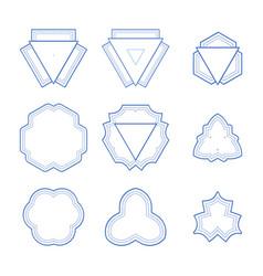 Set of monogram geometric frames vector