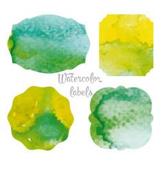 Set watercolor forms vector
