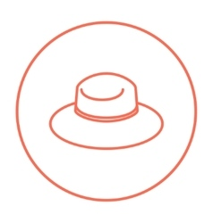 Summer hat line icon vector image