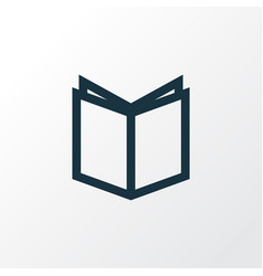 Textbook outline symbol premium quality isolated vector