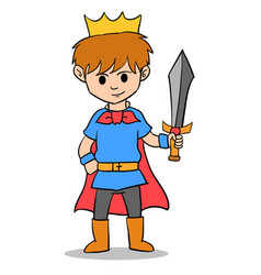 The king boy character style vector